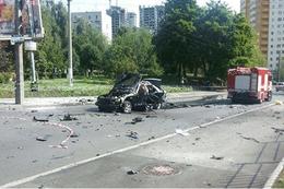 Kiev'de patlama olay yerinden ilk görüntüler