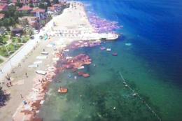 Denize dökülen suntalar böyle görüntülendi