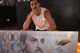 Artık paranın üzerinde  Ibrahimovic var