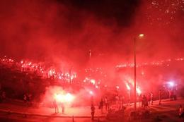 Antalyaspor'un 51. yıl kutlamasında faciadan dönüldü