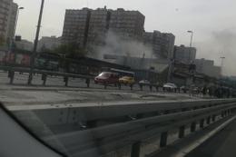İstanbul Metrosu'nda yangın çıktı