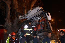 Yolcu otobüsü kaza yaptı çok sayıda ölü var!
