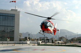 Kayseri Şehir Hastanesi'e hava ambulans hizmeti