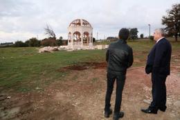 Kocaeli Körfez Belediyesi Kurt Baba Türbesi için yenileme çalışması başlattı