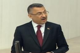Cumhurbaşkanı Yardımcısı Oktay konuşuyor