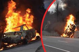 Korkunç kaza: Bir anda alev aldı, 5 kişi öldü!