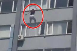 Kelime-i Şehadet getirdi 6.kattan bağıra bağıra atladı