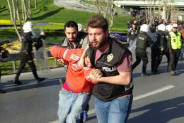Beşiktaş taraftarları gözaltına alındı