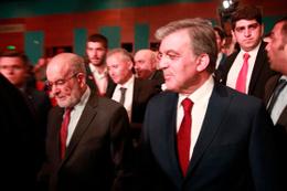 Abdullah Gül ile Karamollaoğlu ödül töreninde