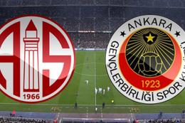 Gençlerbirliği Antalyaspor maçı sonucu ve özeti
