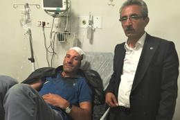 Seçim çalışması yürüten AK Partililere taşlı saldırı