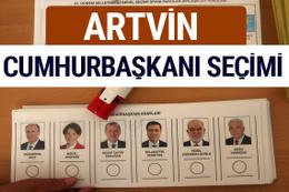 Artvin Cumhurbaşkanları oy oranları YSK Sandık sonuçları