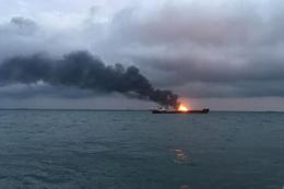 Kerç Boğazı'nda gemiler yandı Türkler de var! Ölü sayısı yüksek