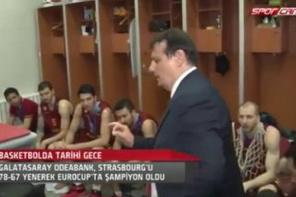 Ergin Ataman'ın soyunma odasında yaptığı konuşma