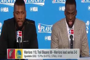 NBA yıldızı röportaj sırasında dondu kaldı!