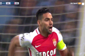 Falcao'nun Manchester City'ye attığı muhteşem gol