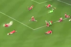 Maç iptal oldu futbolcular böyle sevindi