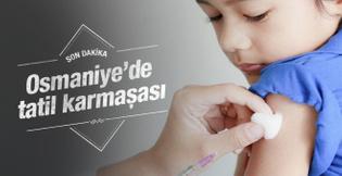 Osmaniye de eğitime grip engeli