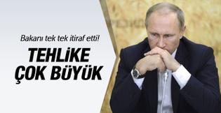 Rusya dan kötü haber! Putin in bakanı itiraf etti