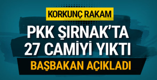 Korkunç rakam! PKK Şırnak'ta 27 cami yıktı 70 camiye hasar verdi