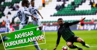 Akhisar Belediyespor-Atiker Konyaspor maçının sonucu