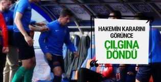 Emre Belözoğlu maçta çıldırdı!