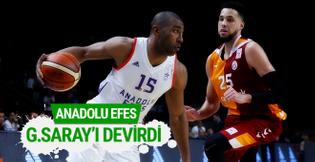 Anadolu Efes Galatasaray'ı devirdi