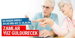 Yeni zamla en düşük emekli maaşı bin 493 TL olacak