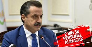 Bakanlığa 2 bin 58 yeni sözleşmeli personel alınacak