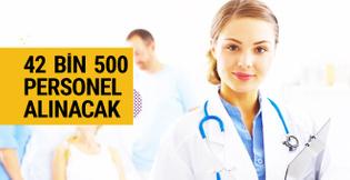 42 bin 500 sağlık personeli alınacak
