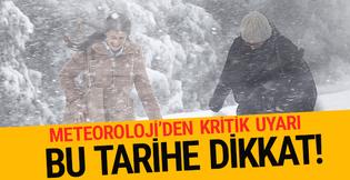 20 Ocak hava durumu raporu İstanbul'a ne zaman kar yağacak