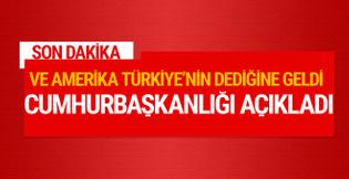 Cumhurbaşkanlığı'ndan PYD'ye silah açıklaması