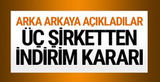 Vodafone Turkcell ve Türk Telekom'dan indirim kararı