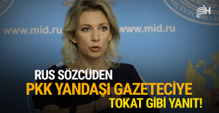 Rus sözcüden PKK yanlısı gazeteciyi fena bozdu