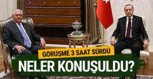 Beştepe'de kritik Erdoğan- Tillerson görüşmesi