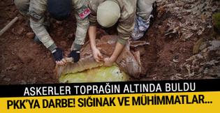 PKK'ya darbe: Sığınak ve mühimmatları imha edildi!