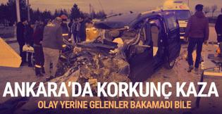 Ankara'daki feci kaza 4 can aldı