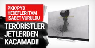 Türk jetleri böyle vurdu: Yeni görüntüler!