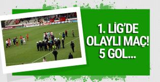 5 gollü olaylı maçı Adanaspor kazandı