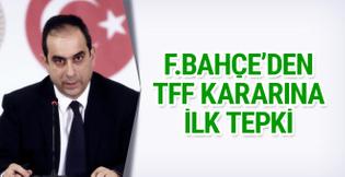 Fenerbahçe'den derbi kararı hakkında ilk açıklama