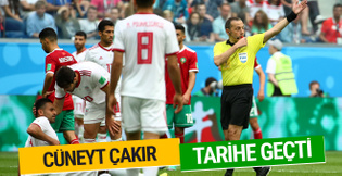 Cüneyt Çakır Dünya Kupası'nda tarihe geçti