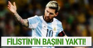 Lionel Messi Filistin futbolunun başını yaktı!
