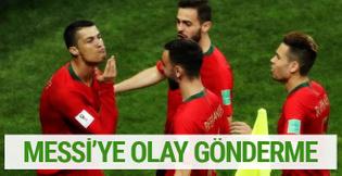Ronaldo'dan Messi'ye olay gönderme