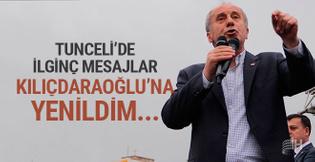 Muharrem İnce'den Tunceli'de Kılıçdaroğlu mesajı