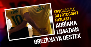 Adriana Lima'dan Metin Hara ile Brezilya paylaşımı!