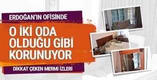 Erdoğan'ın Marmaris'teki ofisi halen darbe gecesinin izlerini taşıyor
