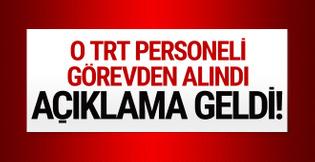 Diyanet'ten açıklama! O TRT personeli görevden alındı!