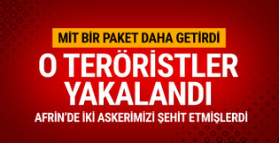 MİT yakaladı! Afrin Harekatı'nda 2 askeri şehit etmişlerdi