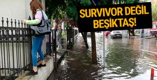 İstanbul'un gözde semtini su bastı