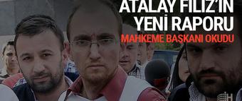 Atalay Filiz'in raporu açıklandı! Meğer o...